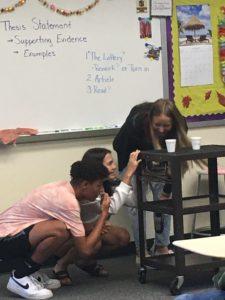 English 10 students reenacting a story (2)