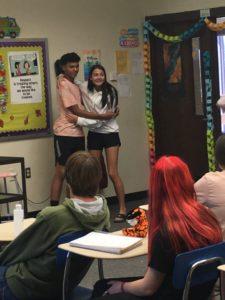 English 10 students reenacting a story (1)