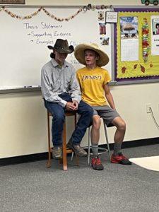 English 10 students reenacting a story (3)