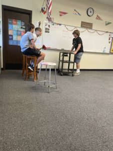English 10 students reenacting a story (4)